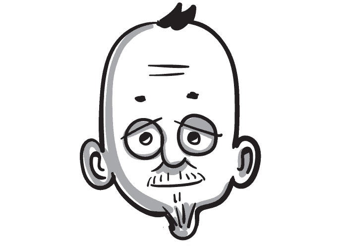 12 Steps Illustrated Character head